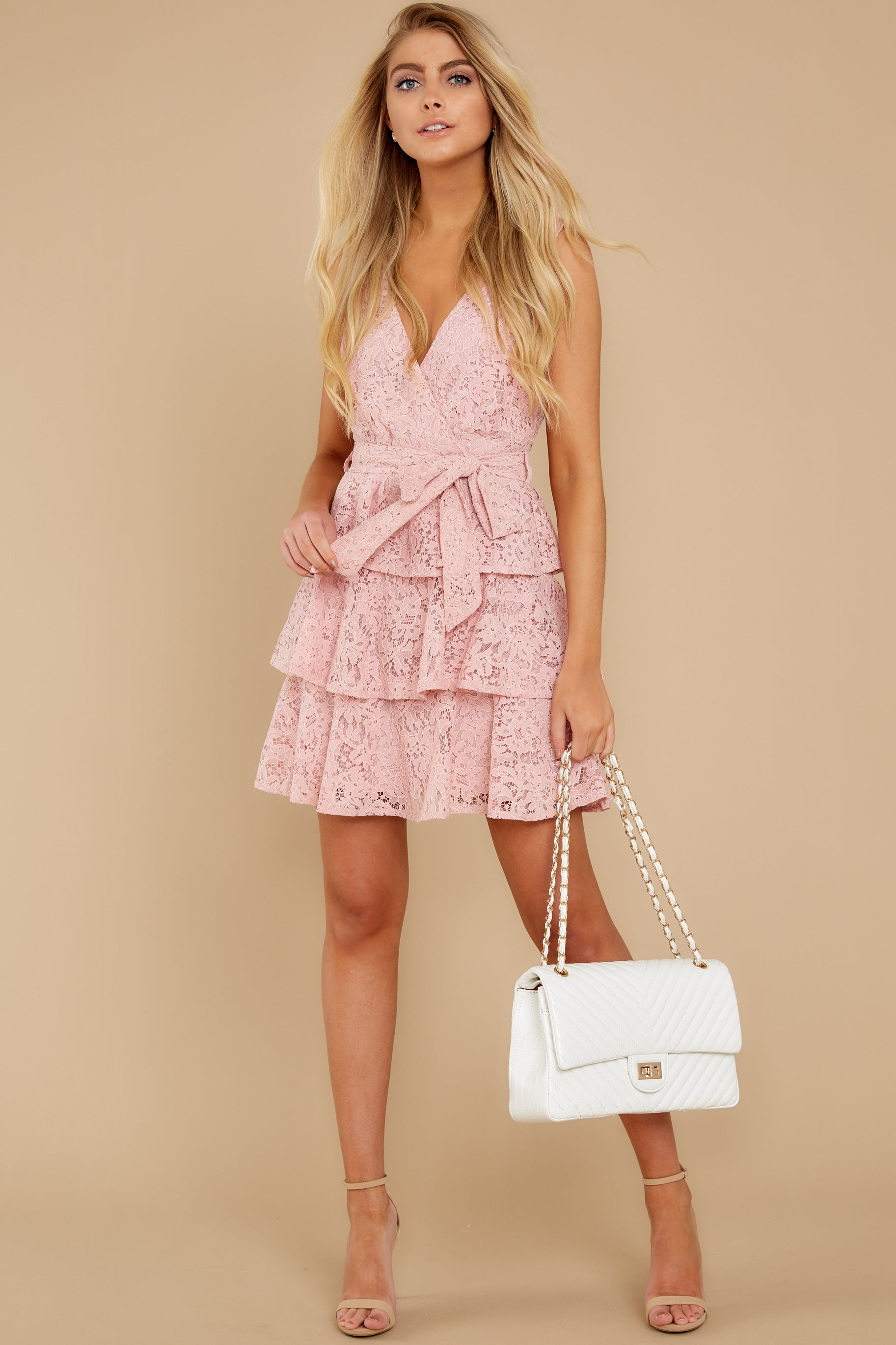 2 Take My Hand Light Pink Lace Dress at reddress.com
