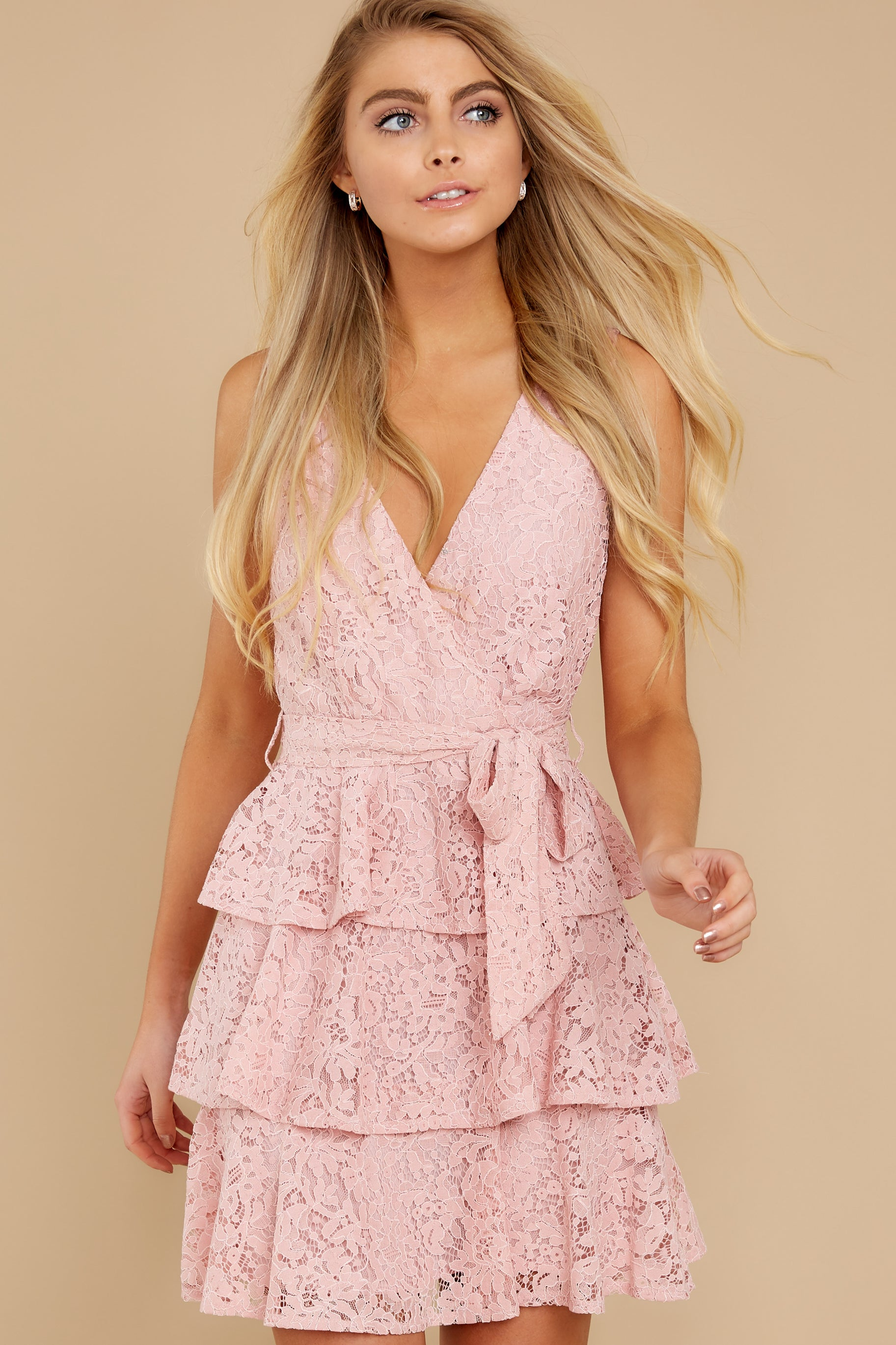 7 Take My Hand Light Pink Lace Dress at reddress.com