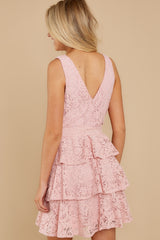 8 Take My Hand Light Pink Lace Dress at reddress.com