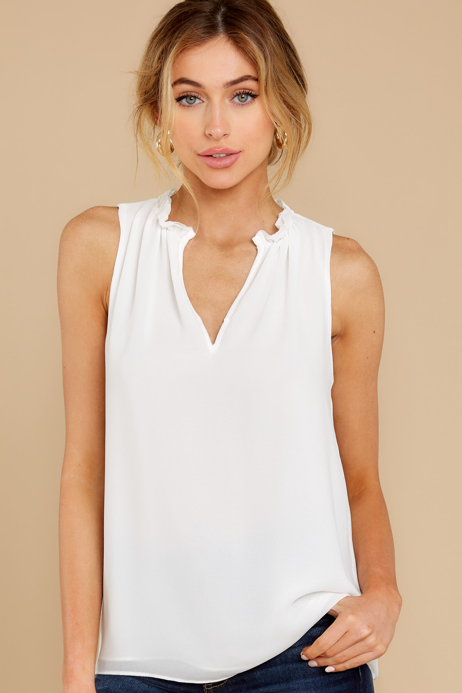 1 In Your Best Interest Off White Top at reddress.com