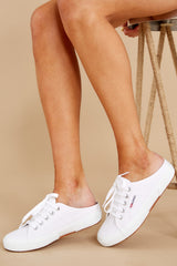 1 2402 Cotw White And Silver Mule Sneakers at reddress.com