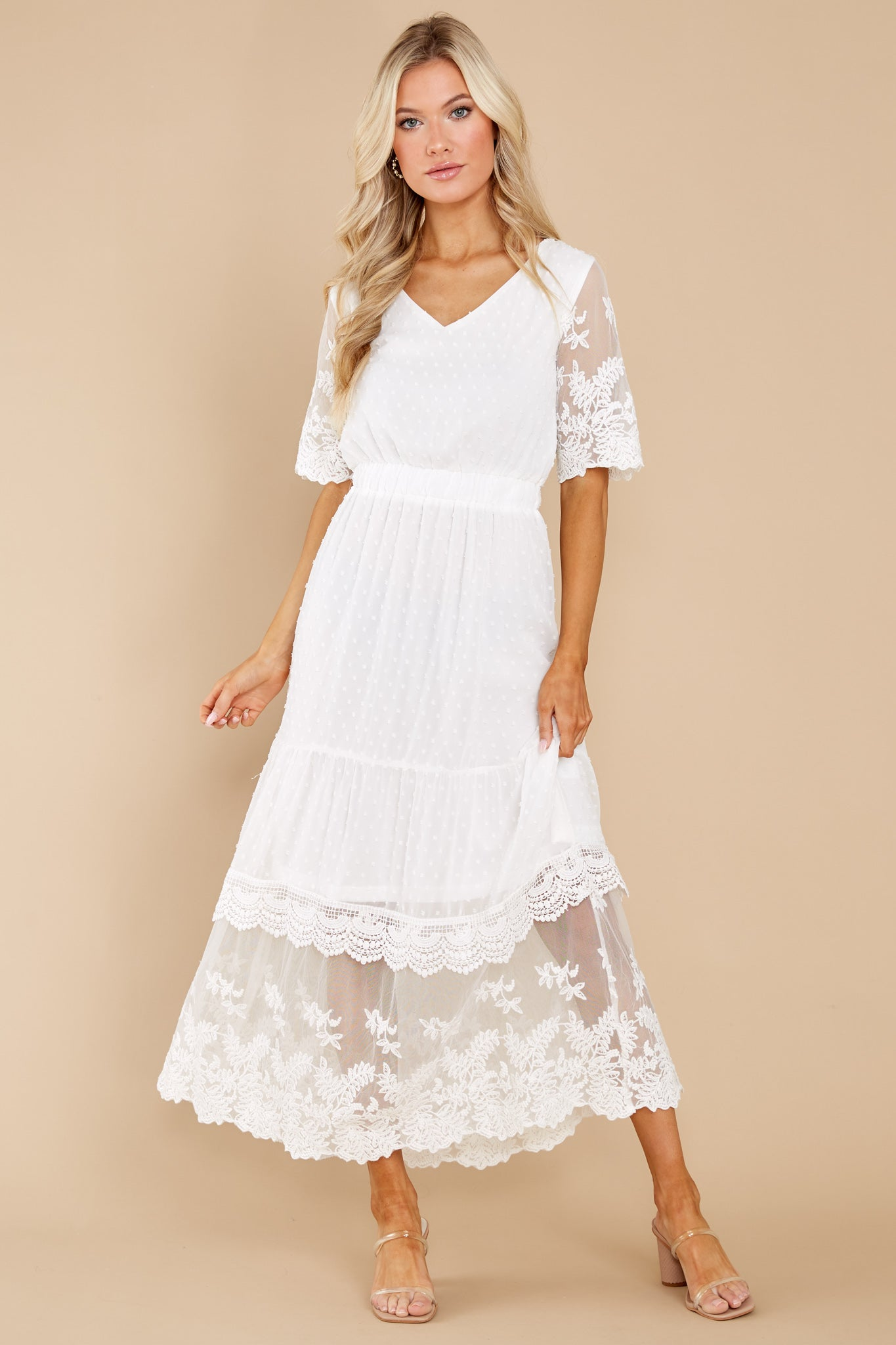 2 Blissfully Nostalgic White Maxi Dress at reddress.com