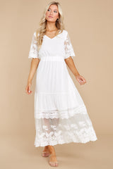 3 Blissfully Nostalgic White Maxi Dress at reddress.com