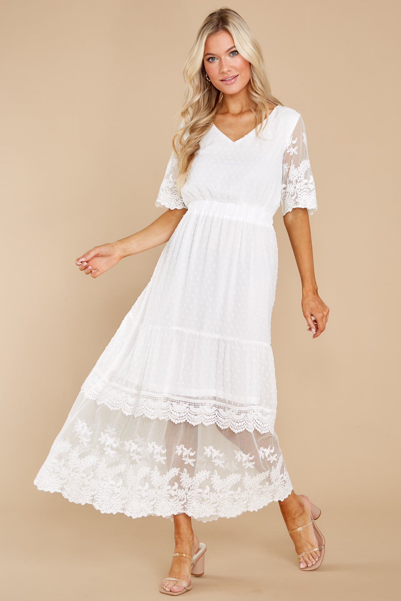4 Blissfully Nostalgic White Maxi Dress at reddress.com