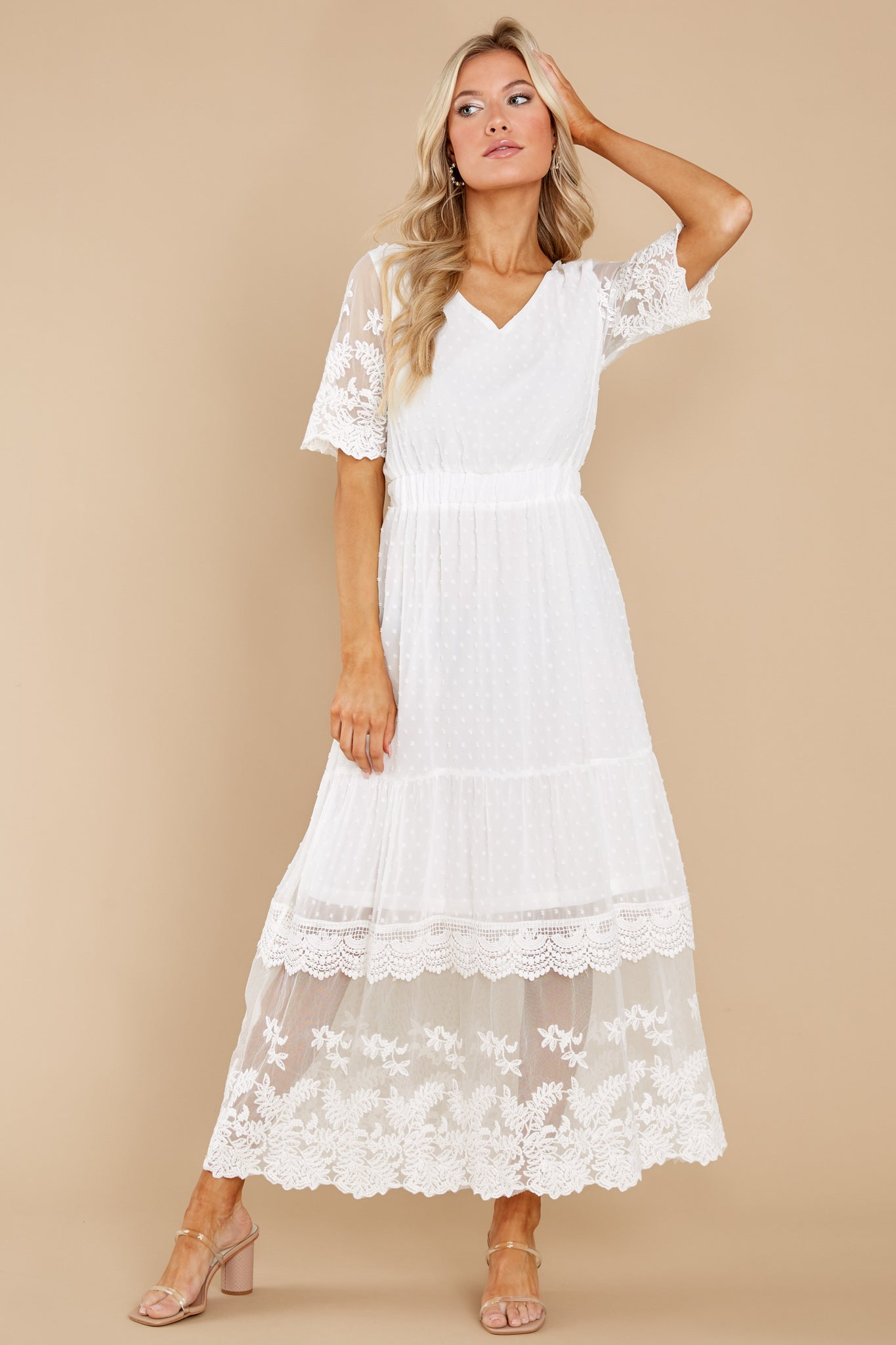 5 Blissfully Nostalgic White Maxi Dress at reddress.com
