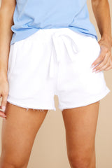 1 Marina Washed White Shorts at reddress.com