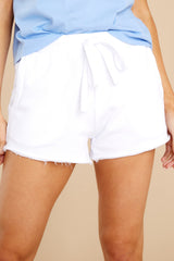 2 Marina Washed White Shorts at reddress.com