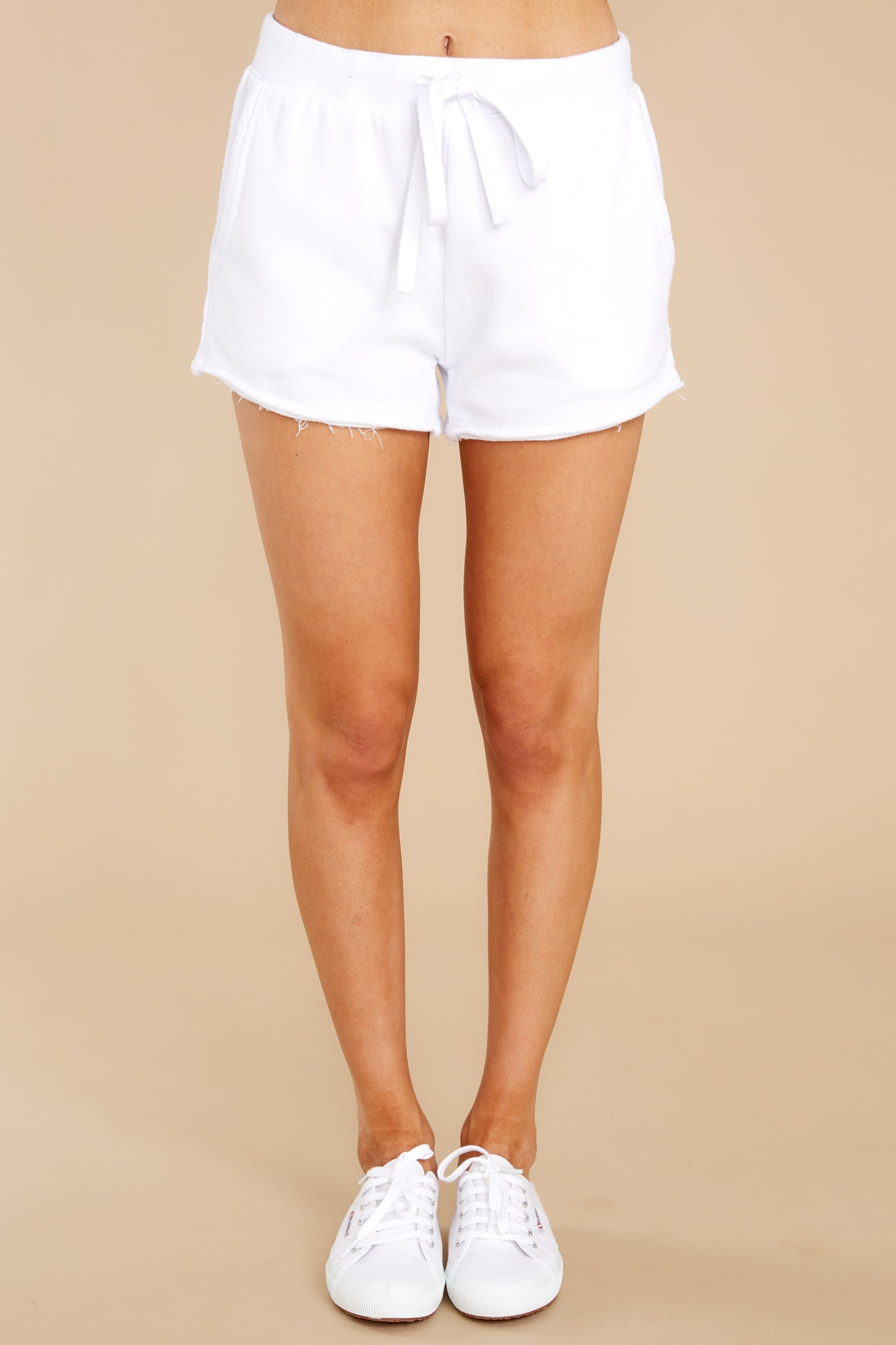 3 Marina Washed White Shorts at reddress.com
