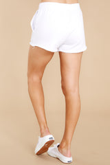 4 Marina Washed White Shorts at reddress.com