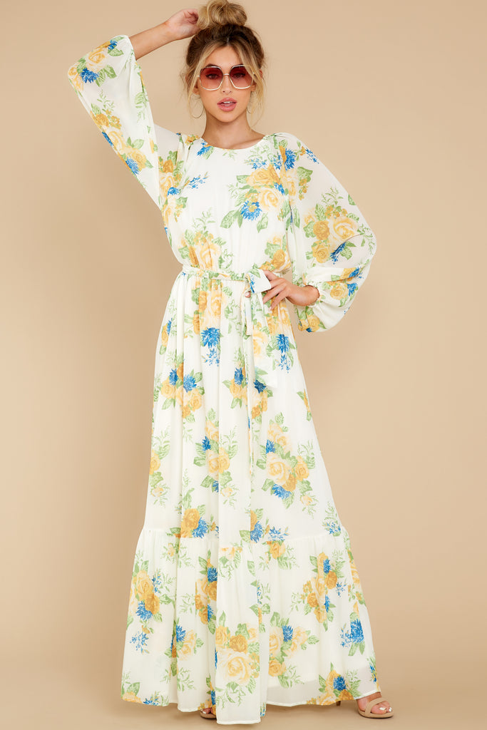 1 Love In Bloom Light Blue Floral Print Maxi Dress at reddress.com