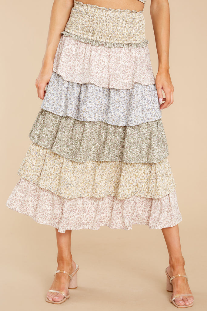 1 Boardwalk Stroll White Floral Print Skirt at reddress.com