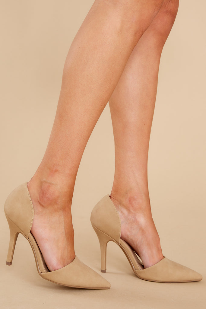 1 Back To Back Tan Pointed Pumps at reddress.com