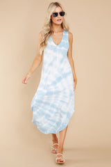 6 Reverie Blue Agave Spiral Tie Dye Dress at reddress.com