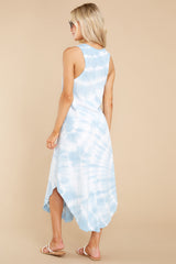 8 Reverie Blue Agave Spiral Tie Dye Dress at reddress.com