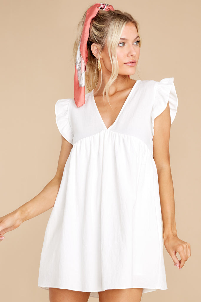 1 Call Me Angel White Romper Dress at reddress.com