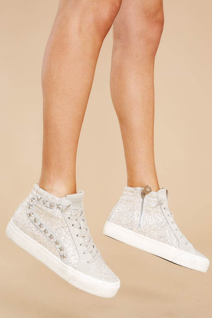 1 Hailey Glitter High Top Sneakers at reddress.com