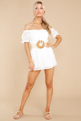 2 Stunning Darling White Eyelet Romper at reddress.com