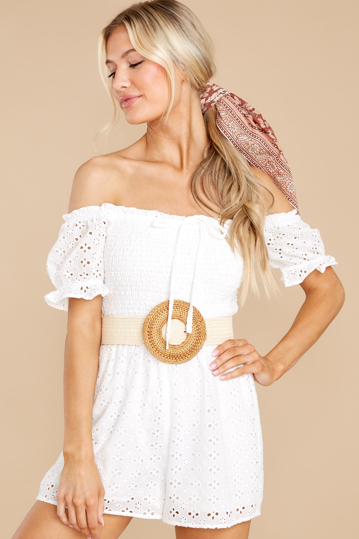 3 Stunning Darling White Eyelet Romper at reddress.com