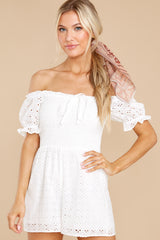 5 Stunning Darling White Eyelet Romper at reddress.com