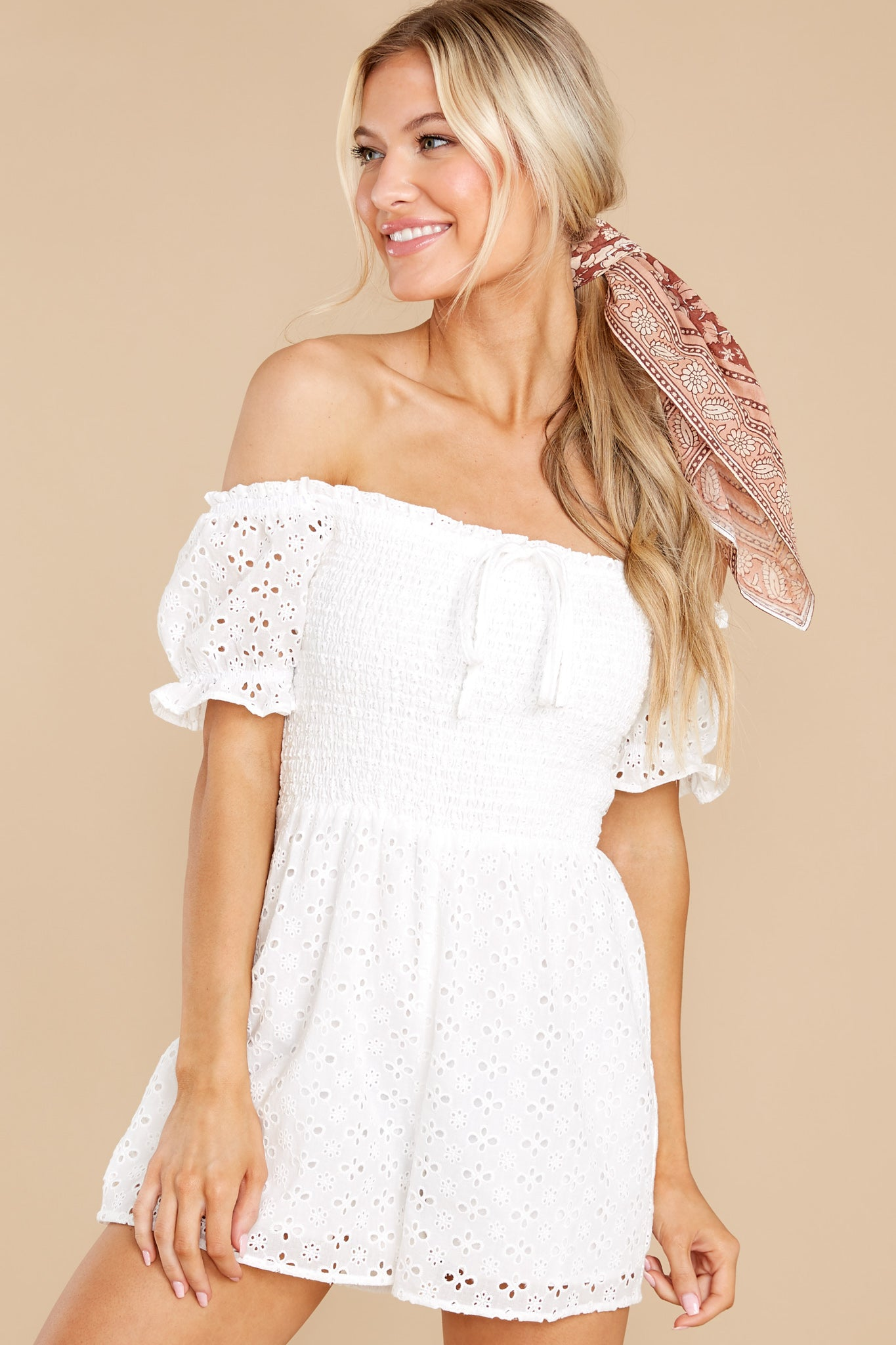 7 Stunning Darling White Eyelet Romper at reddress.com