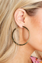 2 Sassy Queen Gold Hoops at reddress.com