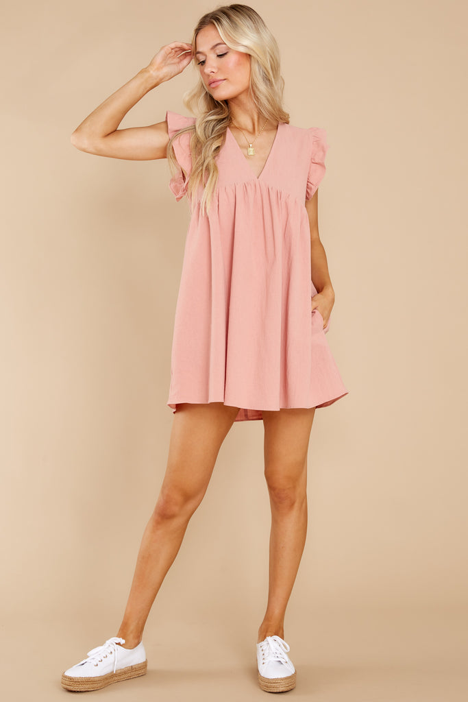 1 Call Me Angel Blush Romper Dress at reddress.com