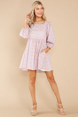 4 It's Your Choice Lavender Floral Print Dress at reddress.com