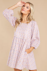 8 It's Your Choice Lavender Floral Print Dress at reddress.com