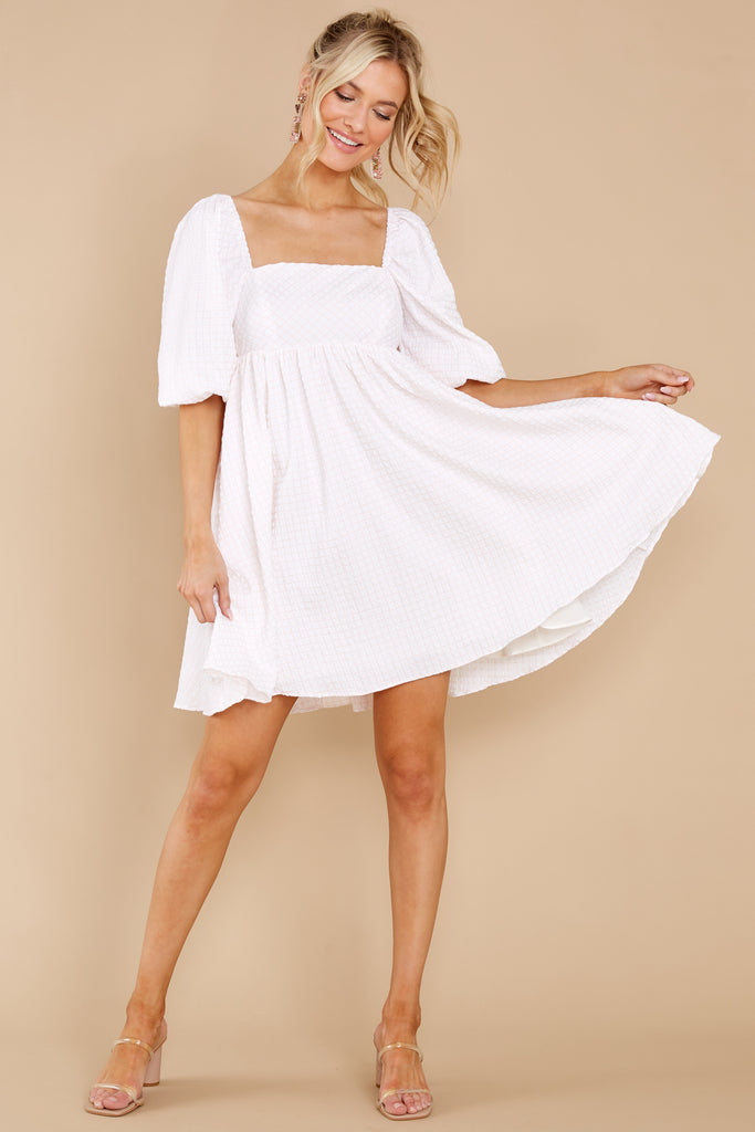 1 Like The First Kiss White And Pale Pink Dress at reddress.com