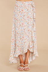2 Boardwalk Stroll White Floral Print Skirt at reddress.com
