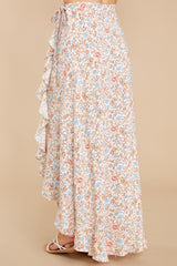 3 Boardwalk Stroll White Floral Print Skirt at reddress.com