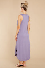 7 Just Relax Dark Lavender Midi Dress at reddress.com