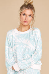 6 Elle Pink Mist Palm Pullover at reddress.com