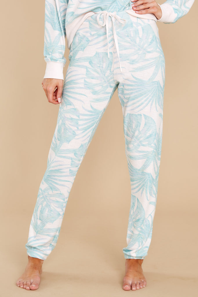 1 Ava Pink Mist Palm Joggers at reddress.com