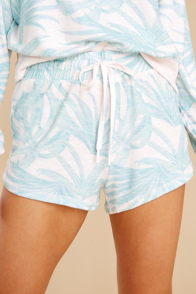 1 Mia Pink Mist Palm Shorts at reddress.com