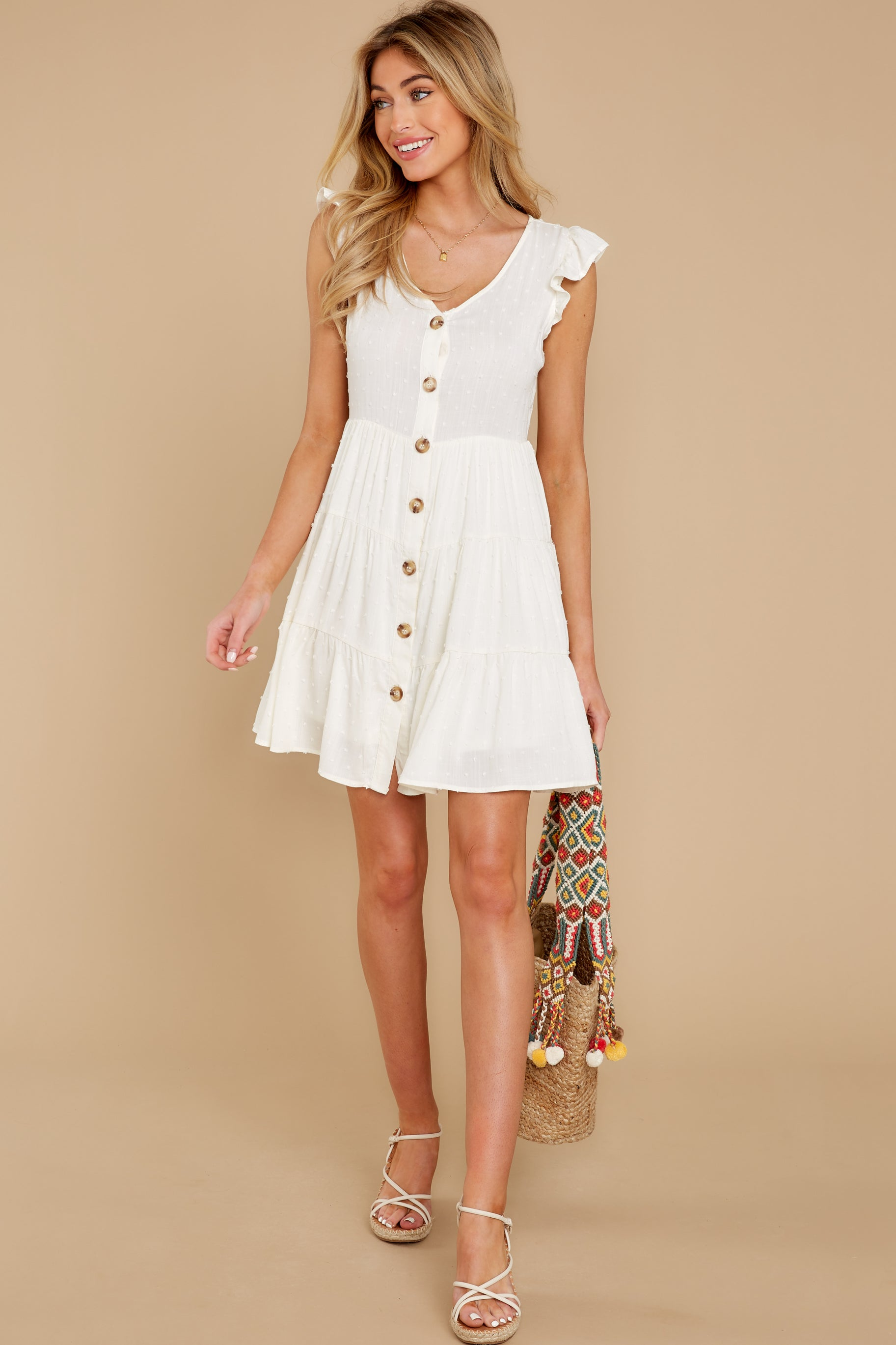 3 With Promises White Dress at reddress.com