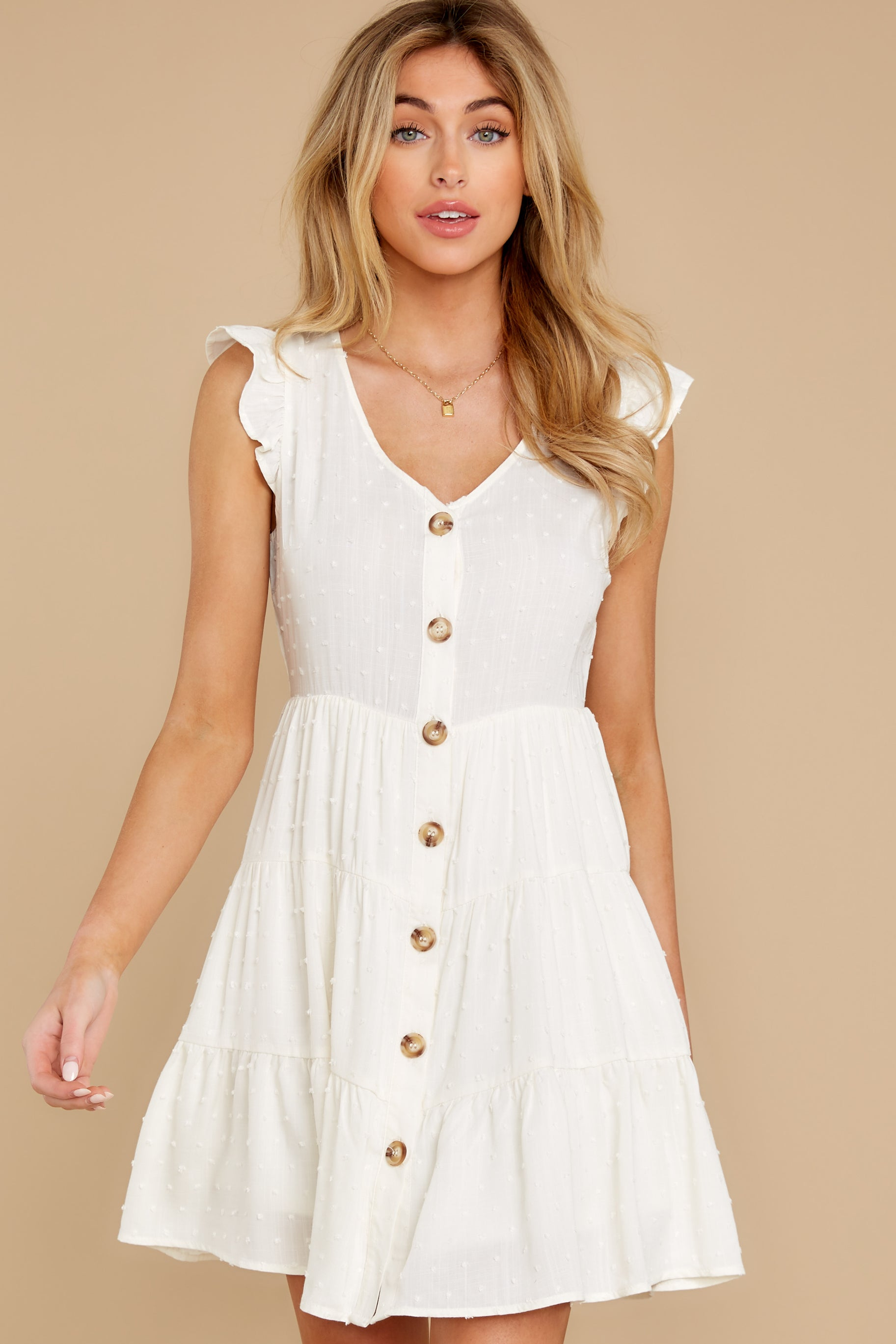 7 With Promises White Dress at reddress.com