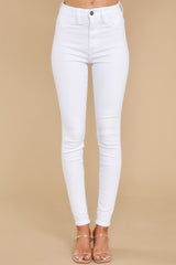 2 Somewhere With You White Skinny Jeans at reddress.com