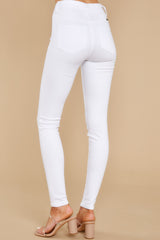 3 Somewhere With You White Skinny Jeans at reddress.com