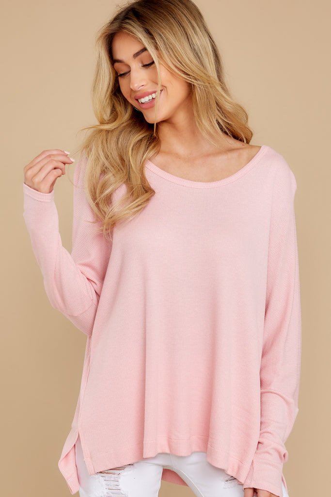 1 Take The Long Road Light Pink Top at reddress.com