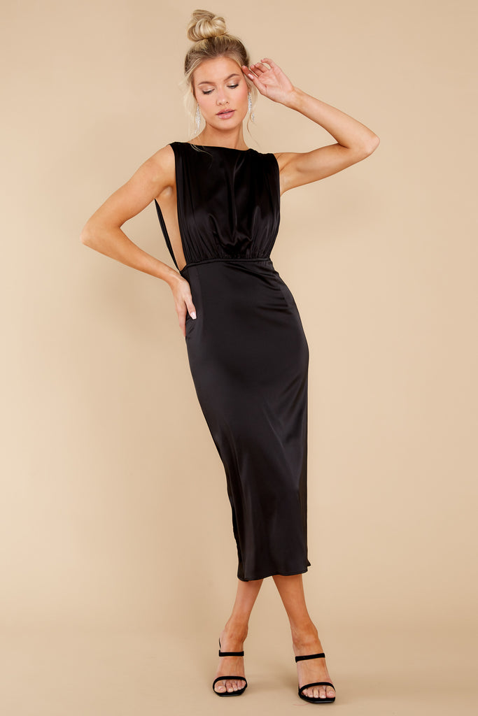 1 Elegant Nights Black Midi Dress at reddress.com