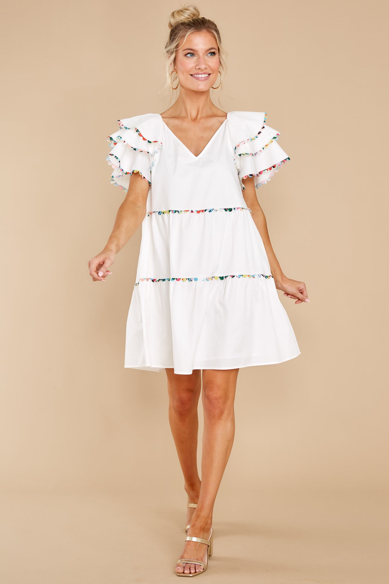 2 Lydia White Dress at reddress.com
