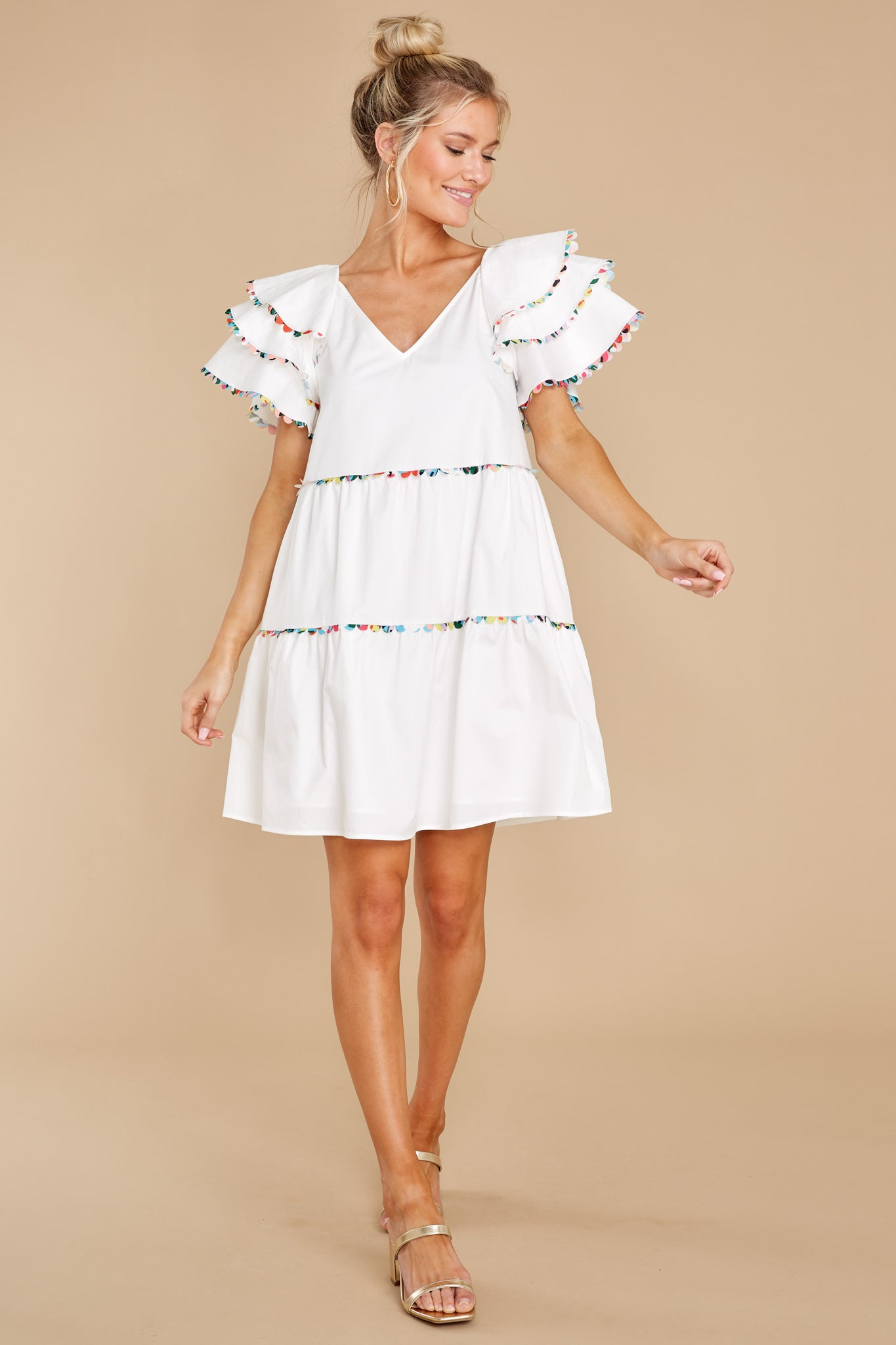 3 Lydia White Dress at reddress.com