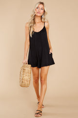 2 Krista Sleek Black Romper at reddress.com