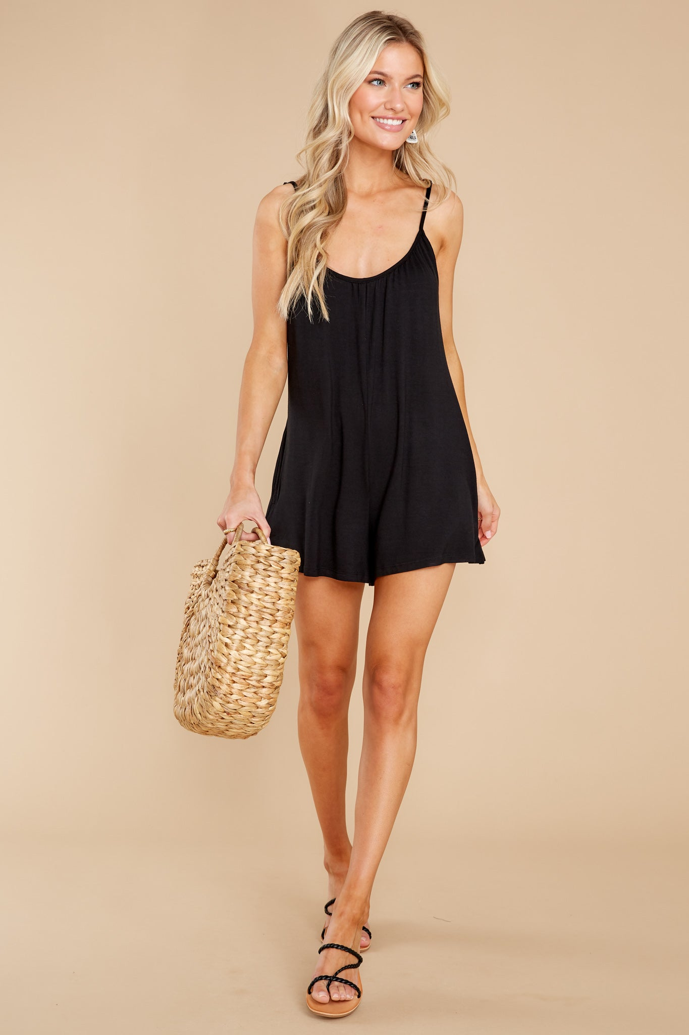 3 Krista Sleek Black Romper at reddress.com