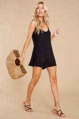 4 Krista Sleek Black Romper at reddress.com