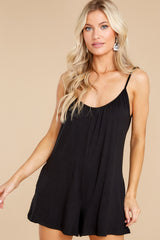 5 Krista Sleek Black Romper at reddress.com