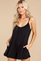 6 Krista Sleek Black Romper at reddress.com