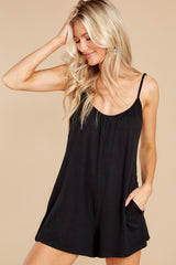 1 Krista Sleek Black Romper at reddress.com