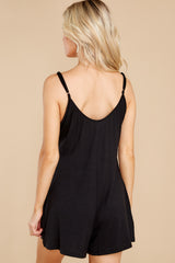 7 Krista Sleek Black Romper at reddress.com